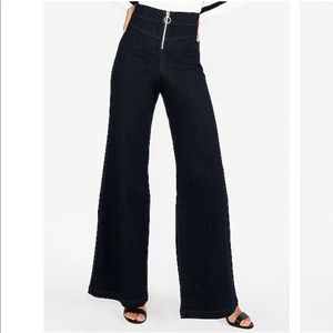 Express Super High Waisted Wide Leg Jean